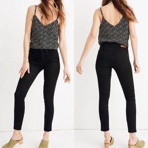 "• Madewell • 9"" High Rise Skinny Crop Jeans Black"